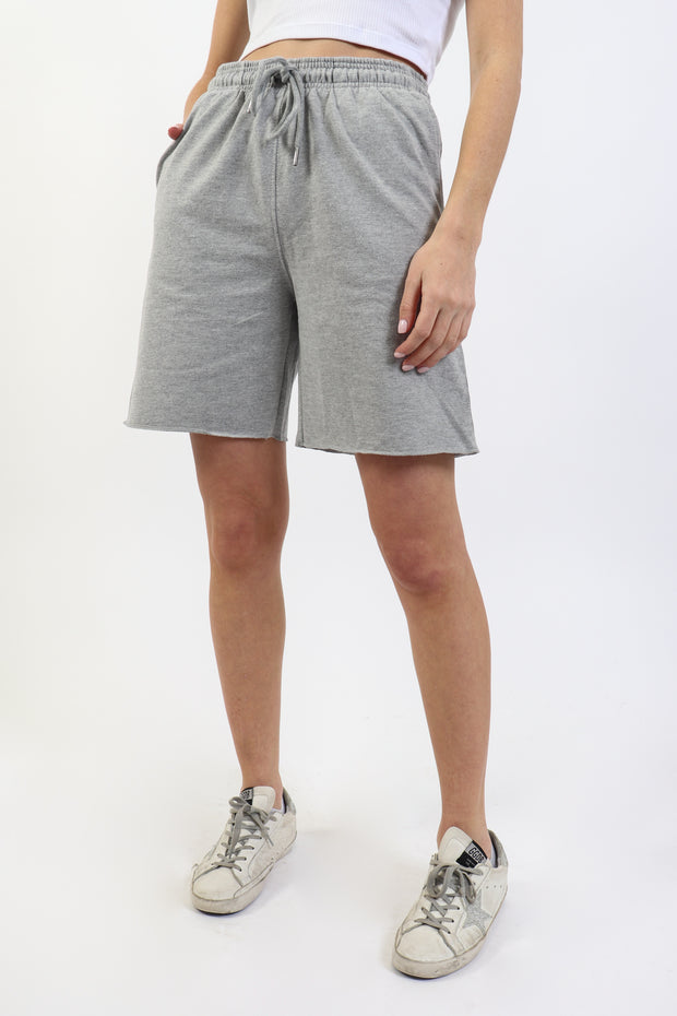 Heather Grey French Terry Bermuda Short