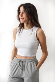 Ribbed Cropped Tank