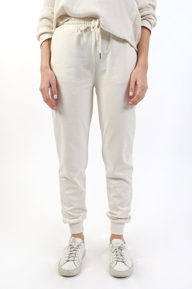 Almond Milk French Terry Joggers