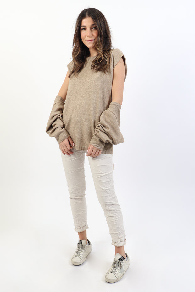 Sleeveless Tunic and Shrug Set