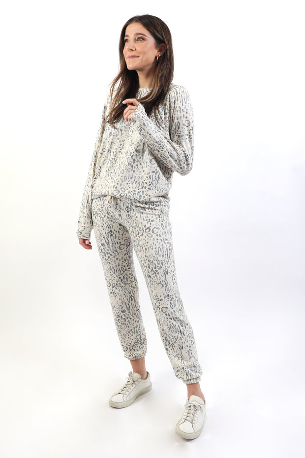 Faded Leopard PJ Set