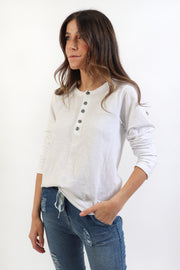 Relaxed Cotton Slub Henley
