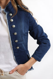 Military Stretch Denim Jacket