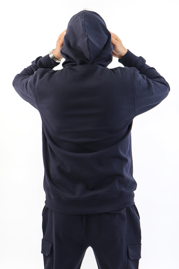 Men's Navy French Terry Hoodie