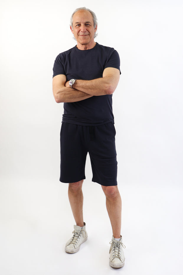 Men's Navy French Terry Shorts