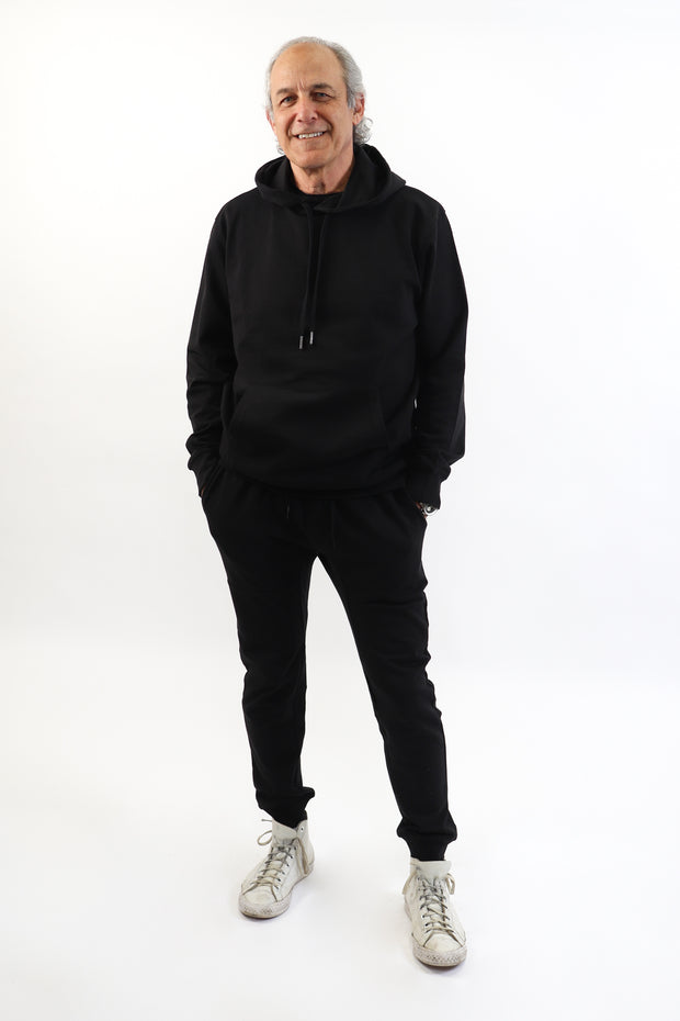 Men's Black French Terry Hoodie