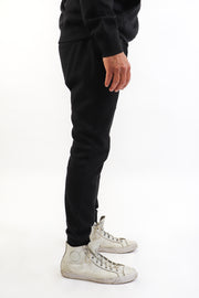 Men's Black French Terry Joggers