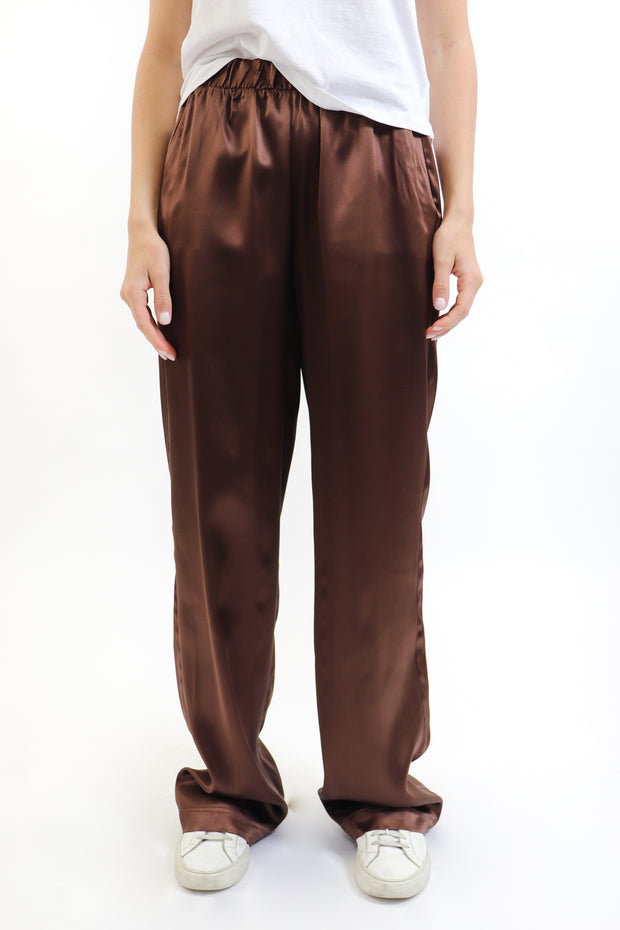 Chocolate Brown Riri Silk Pyjama Pants