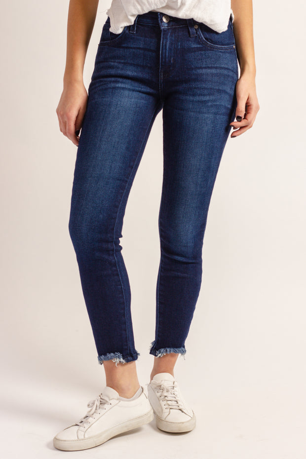 Hem Destruction Skinny Denim