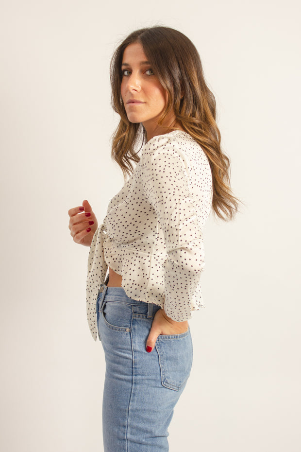 Polkadot Cropped Blouse
