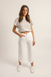 Frayed Capri Pants
