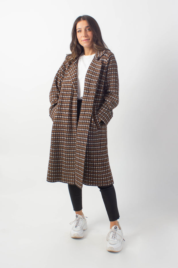 Houndstooth Sweater Jacket
