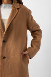 Brushed Wool Camel Coat