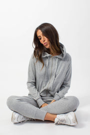 Basic Grey Zip-Up Hoodie