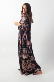 Button-Up Printed Maxi Dress