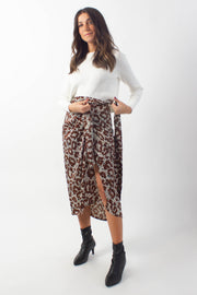 Printed Wrap Skirt
