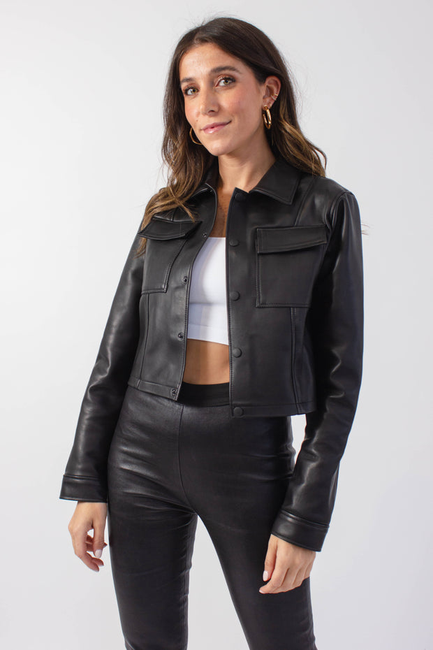 Thursdays X Namesake Crop Leather Jacket