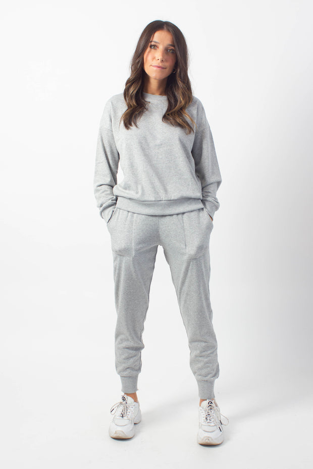 Fleece-Lined Grey Joggers