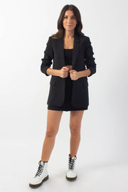 Black Open-Front Blazer