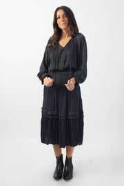 Charcoal Pleated Dress