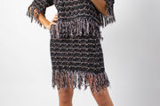 Tweed Fringe Skirt