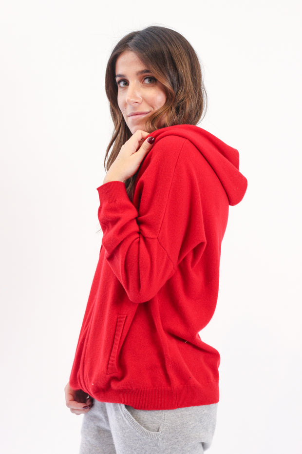 Red Cashmere Hoodie