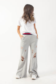 Distressed Flare Sweatpants