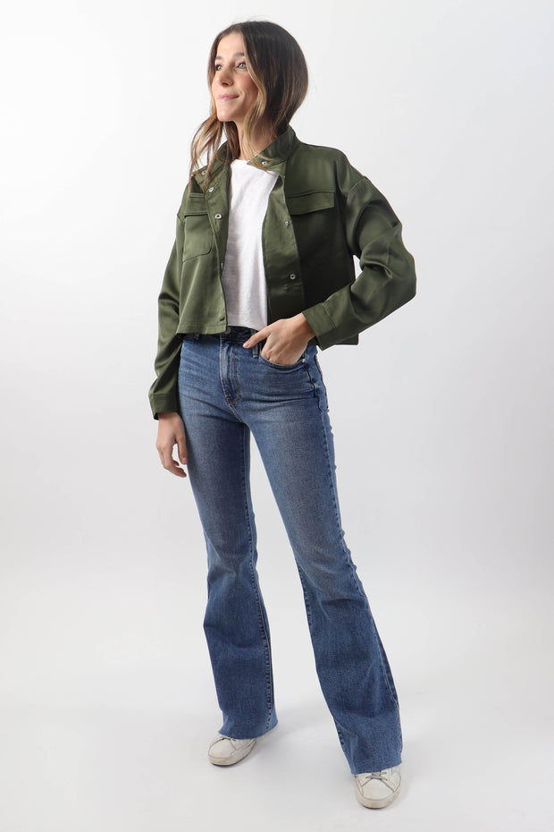 Cropped Satin Jacket