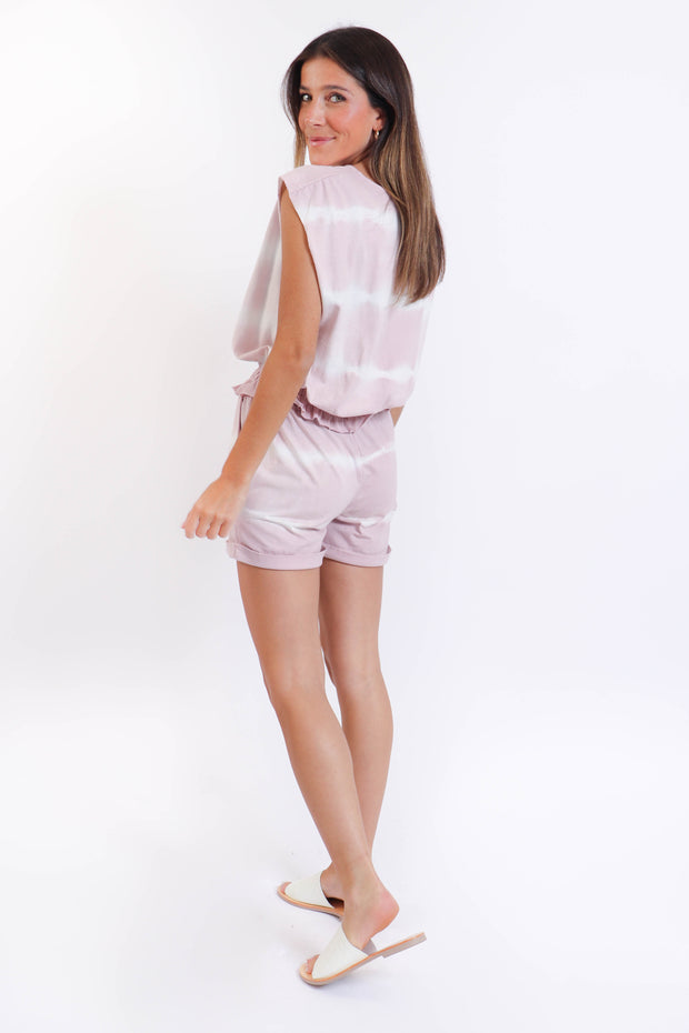 Blush Tie Dye Short Set
