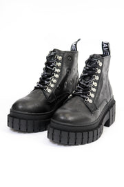 Black Kross Low Logo Boots