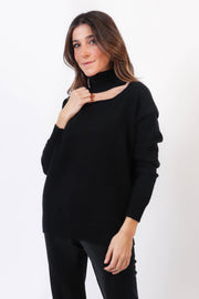 Palmer Cut Out Turtleneck Sweater