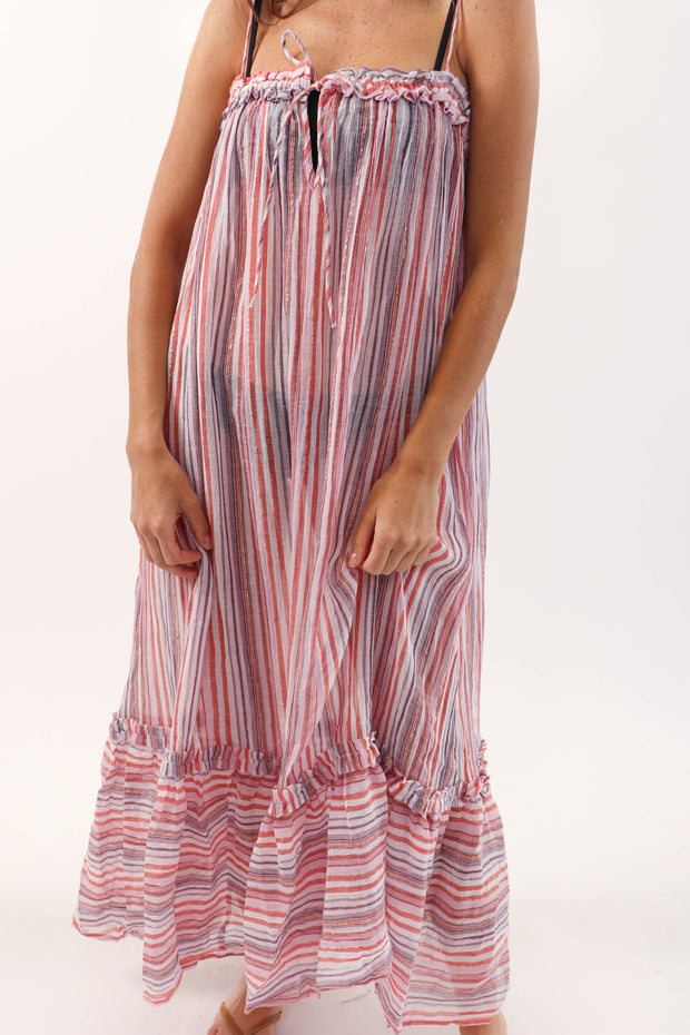 Pink Shimmer Maxi Cover Up