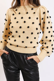 Polka Dot Knit Sweater