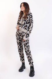 Knit Leopard Lounge Set