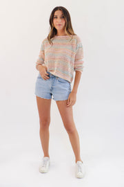 Sunset Pastel Knit Sweater