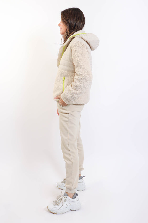 Cream Fleece Half-Zip