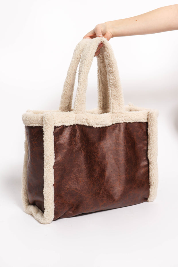 Teddy Tote in Chocolate Brown