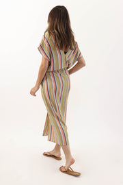 Rainbow Stripe Cover Up