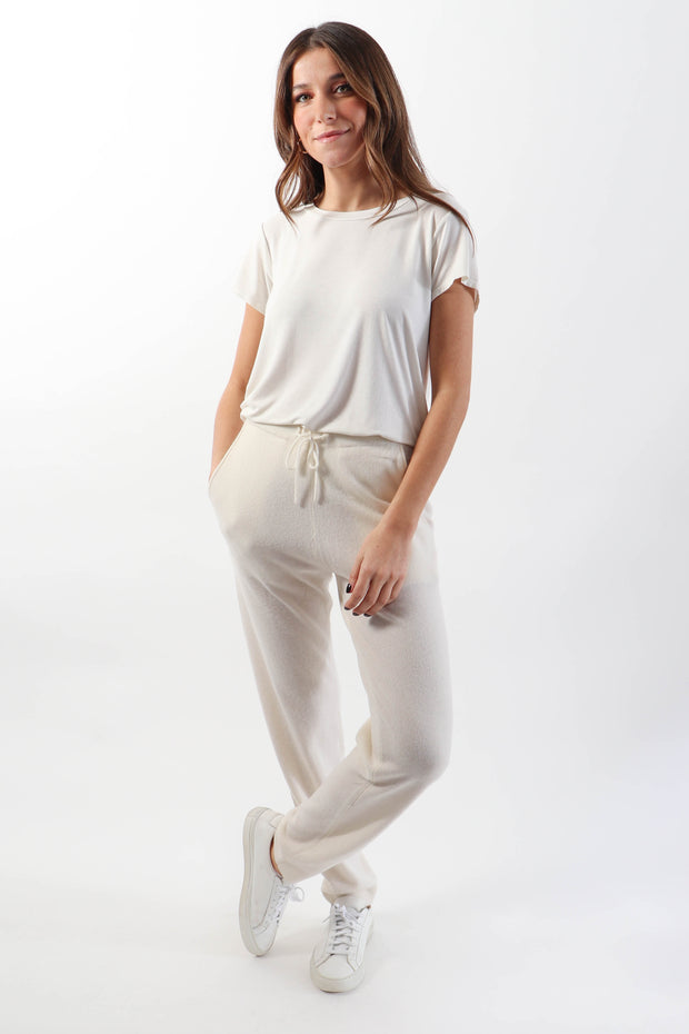 Ivory Cashmere Pant