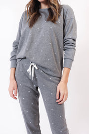 Grey Polkadot Lounge Set
