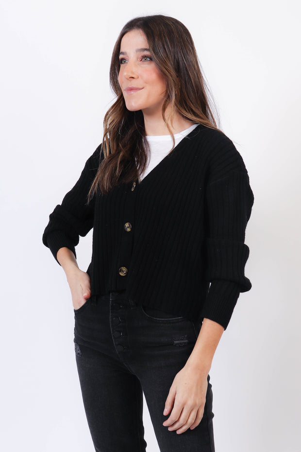 Soft Ribbed Cardigan