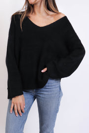 Cozy V-Neck Knit Sweater