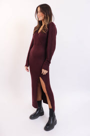 Plum Knit Maxi Dress