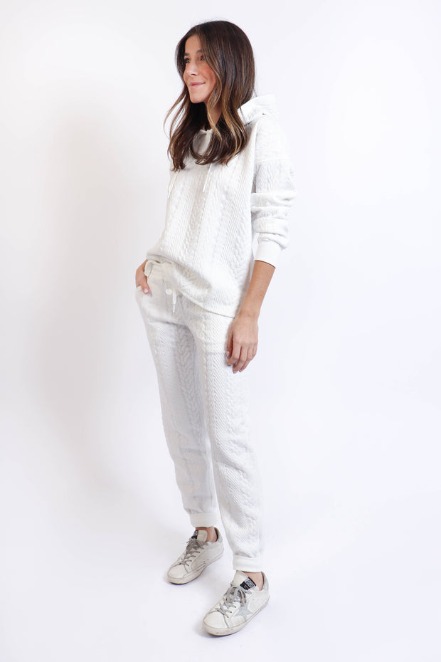 Cable Knit Texture Sweatsuit