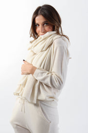 Ivory Cashmere Blanket Scarf