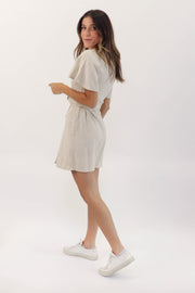 Button-Down Mini Dress