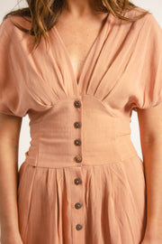 Rust Corset Dress