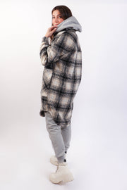 Ivory Plaid Jacket