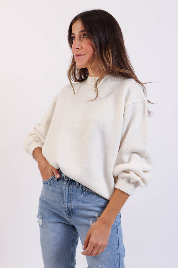 Pearl Mockneck Sweater