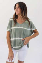 Green Gradient V-Neck